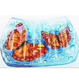 Pampeana Art Glass Glass Soap Dish-Butterfly