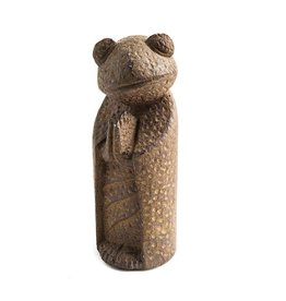 My Spirit Garden Namaste Frog-Antique Brown