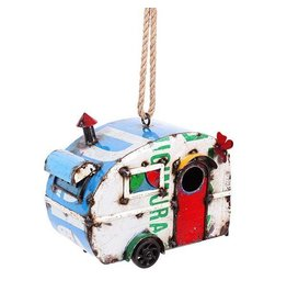 Think Outside Birdhouse-Bird Holiday, Retro Caravan Design