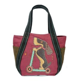 Chala Bags Tote-Carryall Zip-Wiener Dog Scooter