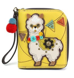 Chala Bags Wallet-Zip Around-Llama
