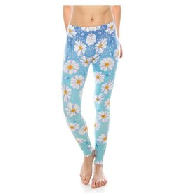 Sihnderella Leggings-Full Leg, Daisy Blue Ombre, (One Size)