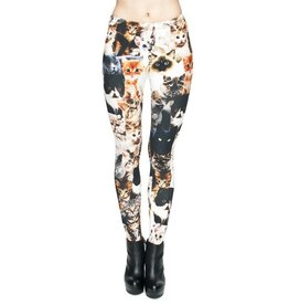 Sihnderella Leggings-Full Leg, Clowder of Cats, (One Size)