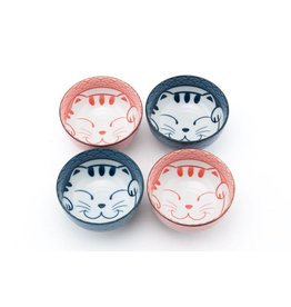 Rice Bowls (4pc Set)-Happy Cat