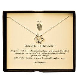 "BU Jewelry BU Necklace-""Live Life To The Fullest"""