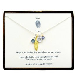 BU Jewelry BU-Inspirational Necklace-'Hope is the Feather'