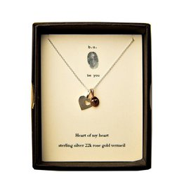 BU Jewelry BU-Inspirational Necklace-'Heart of My Heart'