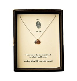 BU Jewelry BU-Inspirational Necklace-'I Love You To The Moon & Back'