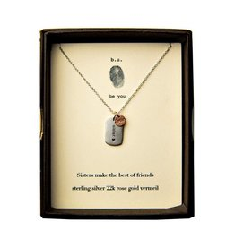 BU Jewelry BU-Inspirational Necklace-'Sisters Make The Best Friends'