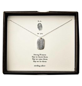 BU Jewelry BU-Inspirational Necklace-'Strong Women'