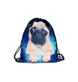 Sihnderella Drawstring Bag-Pug Galaxy Dog
