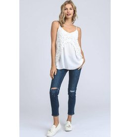 Doe & Rae Top-Camisole & Lace Detail
