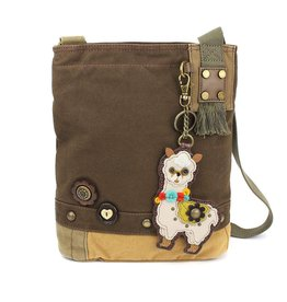 Chala Bags Crossbody-Patch-Llama-DARK BROWN