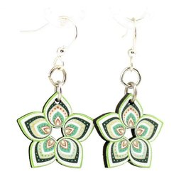 Green Tree Earrings Wood-Mandy Greenly Blossoms