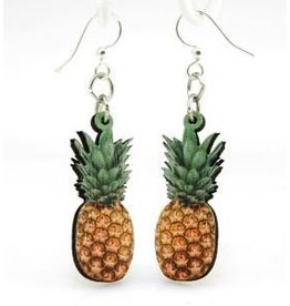 Green Tree Earrings Wood-Pineapple Digital Photo