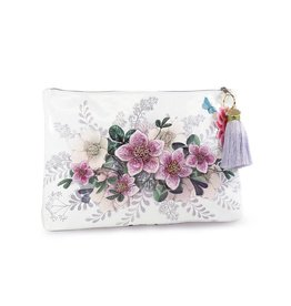 Papaya Art Pouch, Large Tassel - HELLEBORE FLOWER