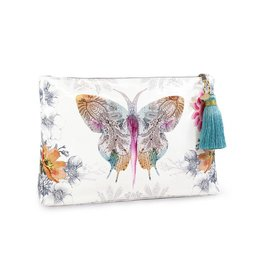 Papaya Art Pouch, Large Tassel - PAISLEY BUTTERFLY