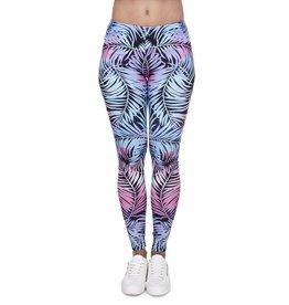 Leggings-Full Leg, Color Leaves, (One Size)