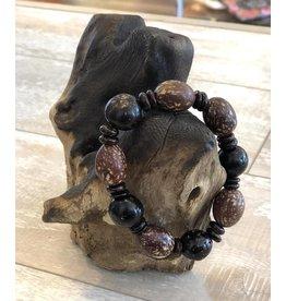 Ecuador Crafts Bracelet, Cerebrito, Coco & Tagua Seeds