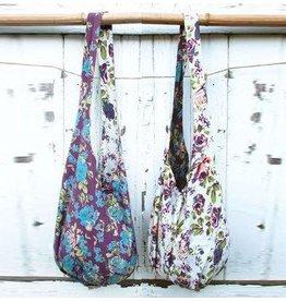 Art Studio Company Cotton Sling Bag-Purple Roses