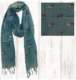 Art Studio Company Scarf Cotton-PUG (Turquoise)