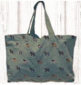 Art Studio Company Tote Travel Shopper-PUG (Turquoise)