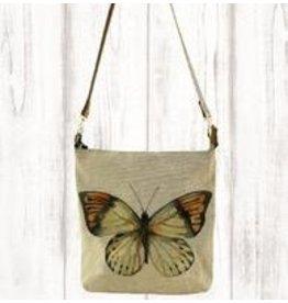 Art Studio Company Crossbody-Leather Strap Canvas-Butterfly