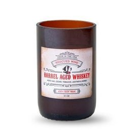 Rescued Wine Candle 8oz-Barrel Aged Whiskey