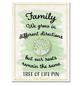 My Word Signs Pin Point-Family We Grow - TREE OF LIFE