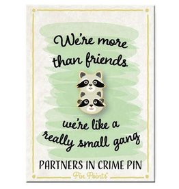 My Word Signs Pin Point-We are more Than Friends - RACCOONS