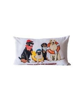 """Cotton Pillow """"Dog Days of Summer"""" 24""""x14"""""""