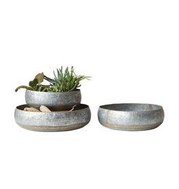 Round Galvanized Metal Bowls