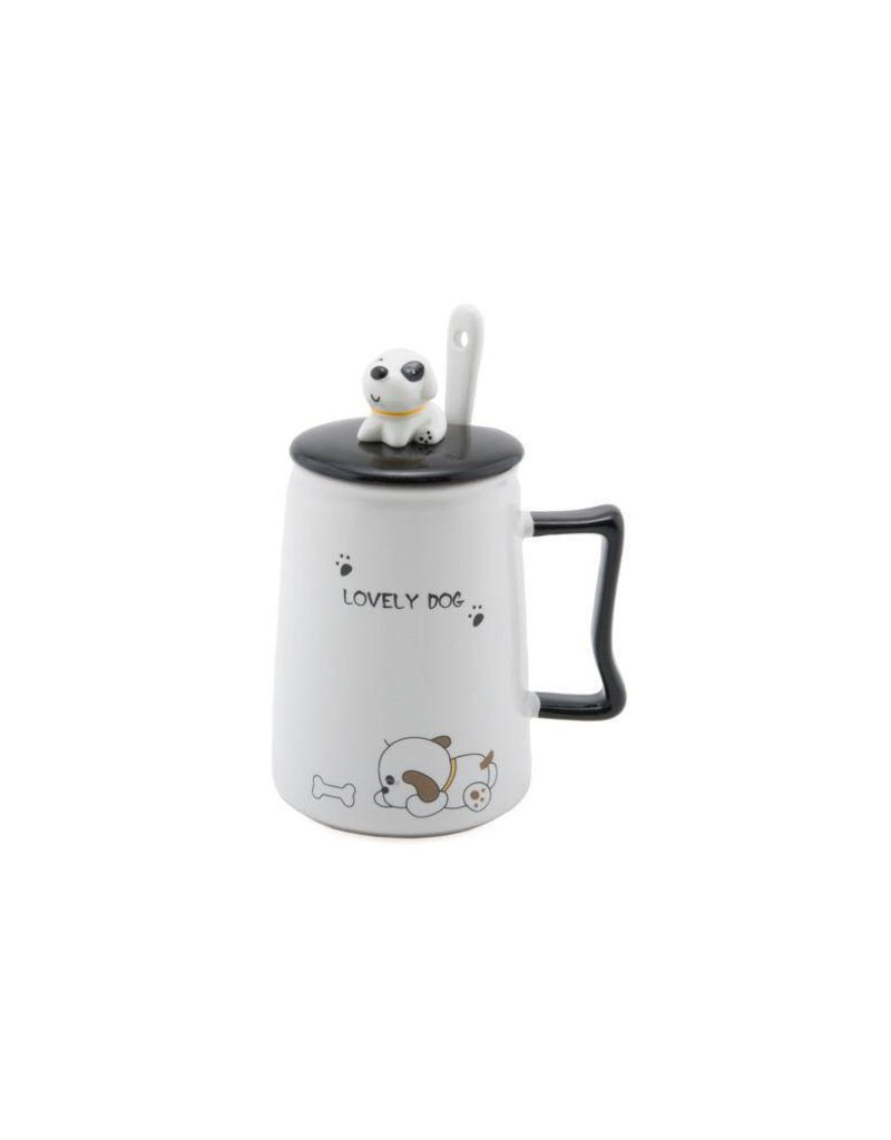 Mug w/Lid & Spoon-Lovely Dog