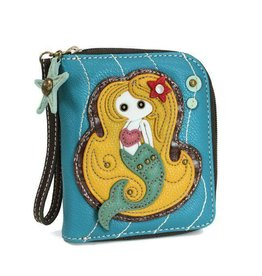 Chala Bags Wallet-Zip Around-Mermaid