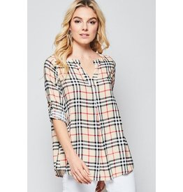 Andree by Unit Top-Classic Check Pattern Blouse