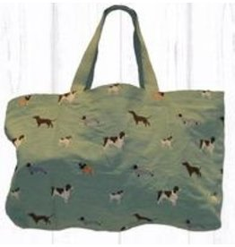 Art Studio Company Tote Travel Shopper-Multi DOG (Mint)