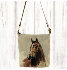 Art Studio Company Crossbody-Leather Strap Canvas-Horse