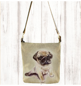 Art Studio Company Crossbody-Leather Strap Canvas-Sleepy Pug
