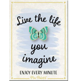 My Word Signs Pin Point-Live the Life - BUTTERFLY