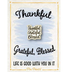 My Word Signs Pin Point-THANKFUL, GRATEFUL, BLESSED