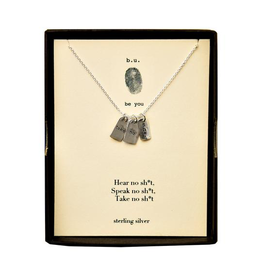 "BU Jewelry BU-Inspirational Necklace-""Take No Shi*t"