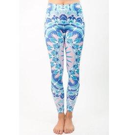 Sihnderella Leggings-Full Leg, Mandala Blue, (One Size)