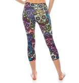 Sihnderella Leggings-Capri, Sugar Skulls, (One Size)