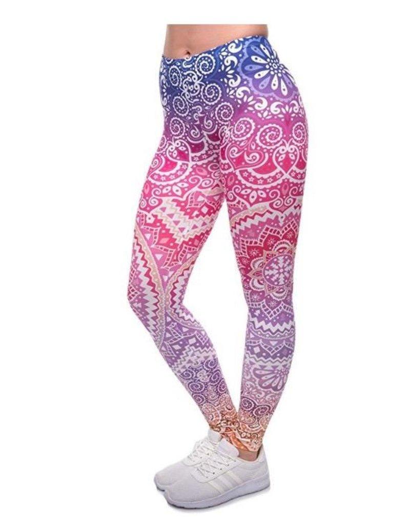 Sihnderella Leggings-Full Leg, Mandala Purple, (One Size)