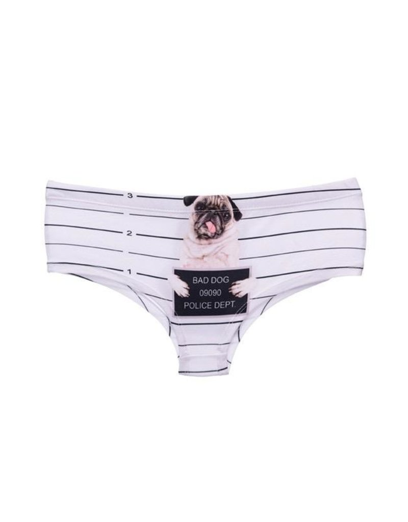"Sihnderella Panties-PUG JAIL (ONE SIZE) ""NO RETURNS"""