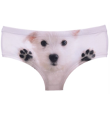 "Sihnderella Panties-WHITE PUPPY (ONE SIZE) ""NO RETURNS"""