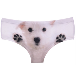 """Panties-WHITE PUPPY (ONE SIZE) """"NO RETURNS"""""""
