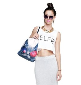 Sihnderella Drawstring Bag-Sunglasses Cat
