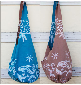 Art Studio Company Batik Cotton Sling Bag-Dolphin (Blue)