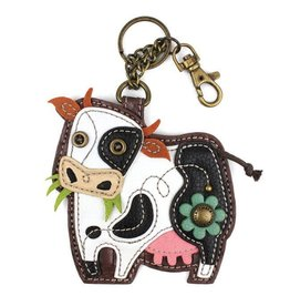 Chala Bags Key Fob, Coin Purse-COW